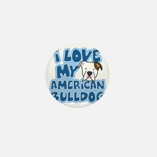 americanbulldog_animelove Mini Button
