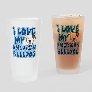 americanbulldog_animelove Drinking Glass