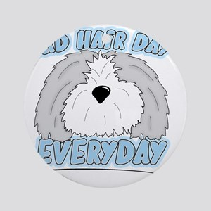 oes_badhairday Round Ornament