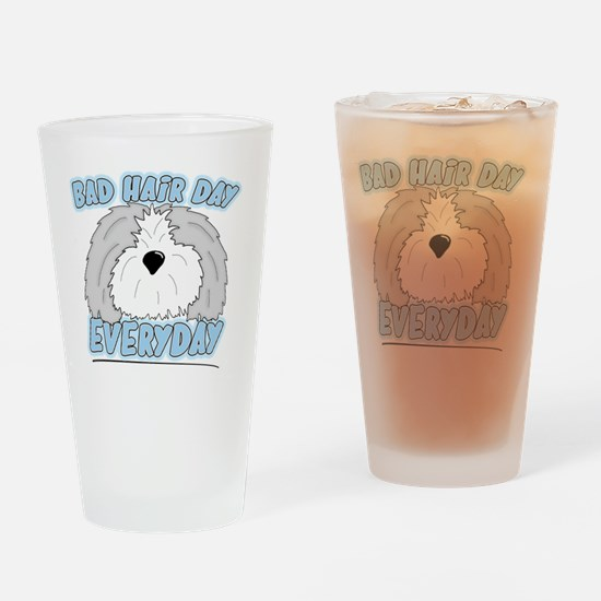 oes_badhairday Drinking Glass