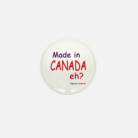 Canadian Eh? Mini Button (10 pack)