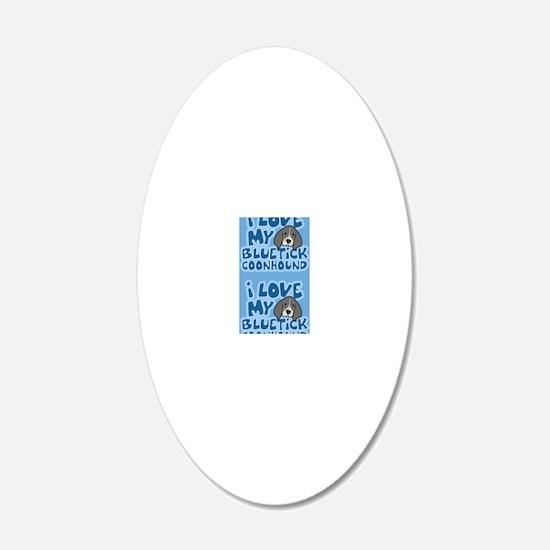 bluetick_animelove_sticker Wall Decal
