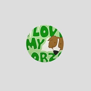 borzoi_animelove_ornament Mini Button