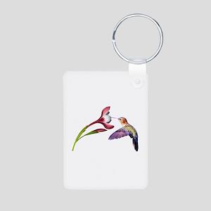Hummingbird in Flight Aluminum Photo Keychain