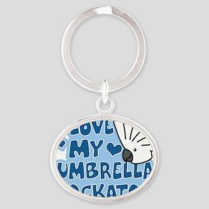 animelove_umbrella Oval Keychain