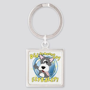 flyball-crazy Square Keychain