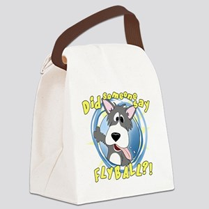 flyball-crazy Canvas Lunch Bag