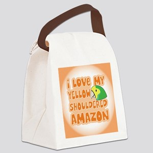 animelove_yellowshoulder_ornament Canvas Lunch Bag