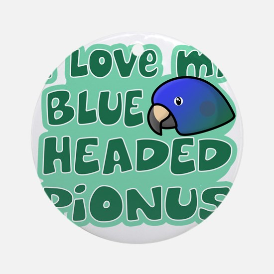 animelove_pionus_blue Round Ornament