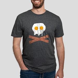39 Eggs Bacon Skull Mens Tri-blend T-Shirt