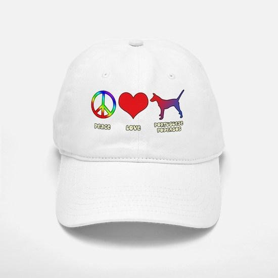 peacelove_portpodengo-smooth Baseball Baseball Cap