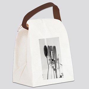 Microphone recording equipment fo Canvas Lunch Bag