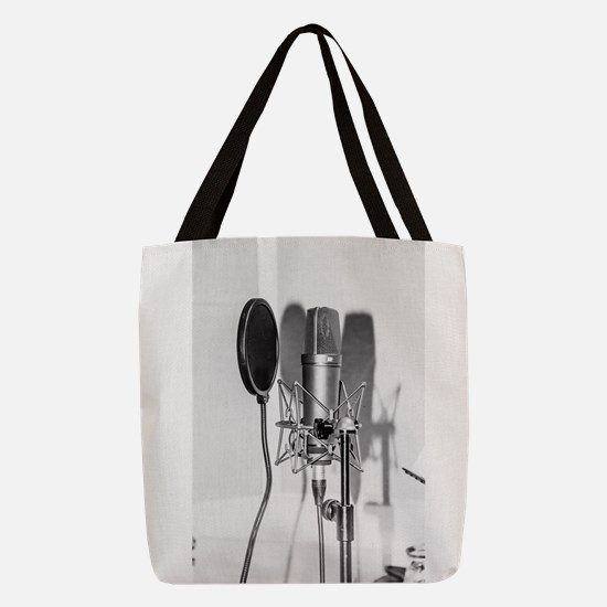 Microphone recording equipment Polyester Tote Bag