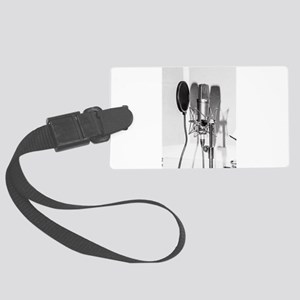 Microphone recording equipment f Large Luggage Tag