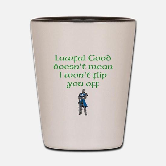Lawful Good Shot Glass