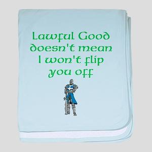 Lawful Good baby blanket