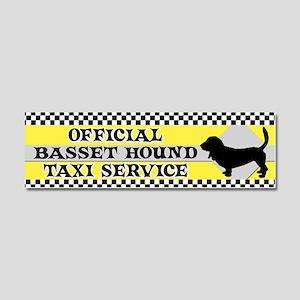 basset_taxi_bumper Car Magnet 10 x 3
