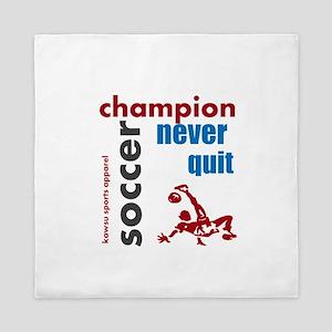 champion soccer Queen Duvet