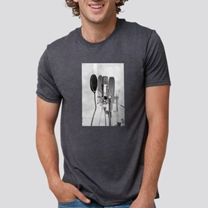Microphone recording equipm Mens Tri-blend T-Shirt