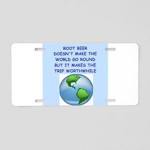 root beer Aluminum License Plate