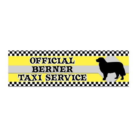 bernese_taxi_bumper 20x6 Wall Decal