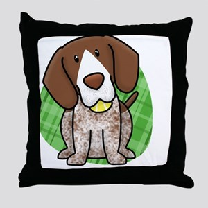 kawaii-germanshorthair Throw Pillow