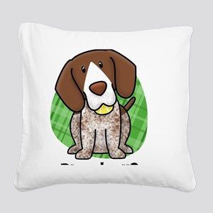 kawaii-germanshorthair Square Canvas Pillow