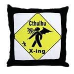 Cthulhu Crossing! Throw Pillow