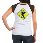 Cthulhu Crossing! (BackDesign) Women's Cap Sleeve
