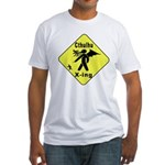 Cthulhu Crossing! Fitted T-Shirt