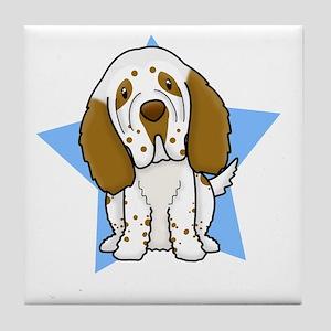 star_clumber_blk Tile Coaster