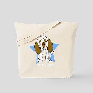 star_clumber_blk Tote Bag