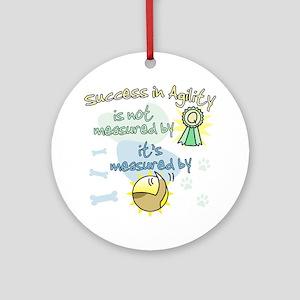 measure_agility_success Round Ornament