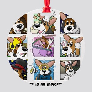 corgi-9boxes Round Ornament