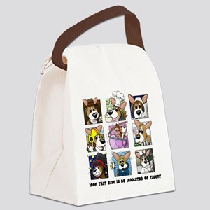 corgi-9boxes Canvas Lunch Bag