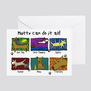 mutts_do_it_all Greeting Card