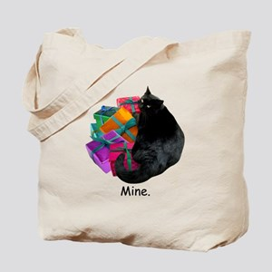 Cat with Presents Tote Bag