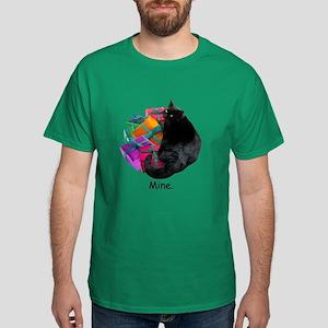 Cat with Presents Dark T-Shirt