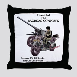 baghdadcommute Throw Pillow