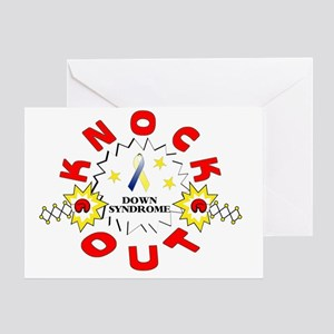 knockout-down-syndrome Greeting Card
