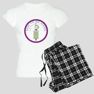 waving-girl-ver-1white Women's Light Pajamas