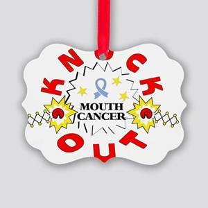 knockout-mouthcancer Picture Ornament