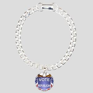 flag-banner-ver-1-vote-r Charm Bracelet, One Charm