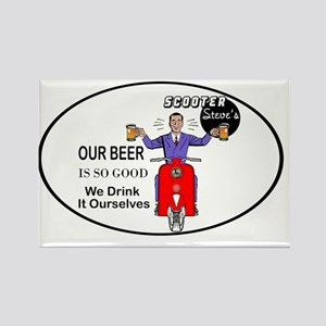 scooter-steve2-oval-red-sticker Rectangle Magnet
