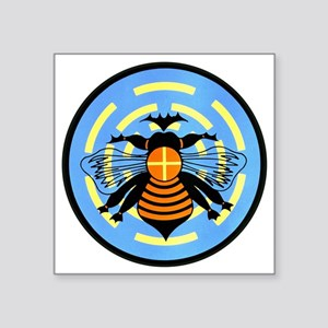 "bee-round Square Sticker 3"" x 3"""