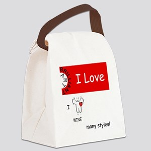 i-love-wine Canvas Lunch Bag