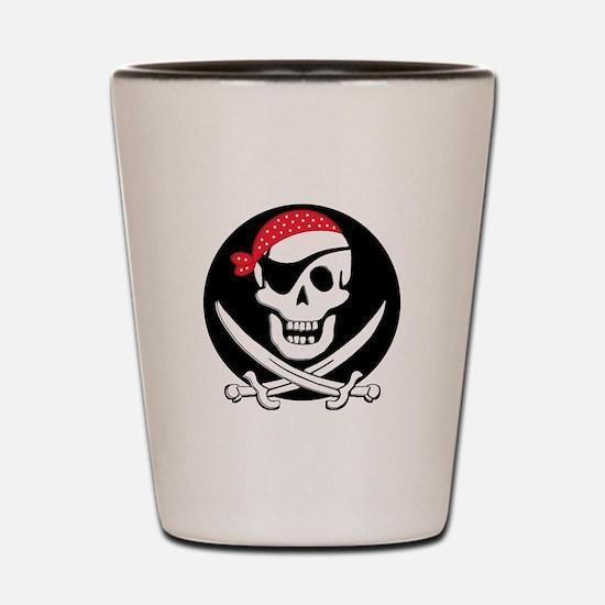 cant-sleep-pirates-black Shot Glass