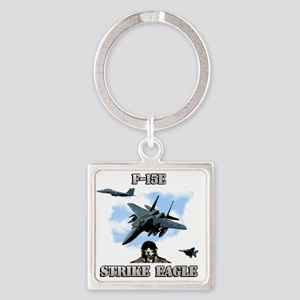F-15E Strike Eagle-2 Square Keychain