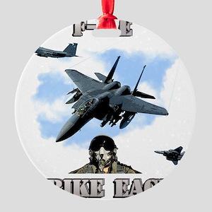 F-15E Strike Eagle-2 Round Ornament
