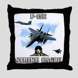 F-15E Strike Eagle-2 Throw Pillow